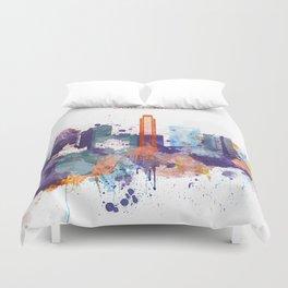 Colorful San Paulo skyline design Duvet Cover