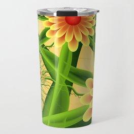 Summer Feelings, Modern Fantasy Flowers Travel Mug