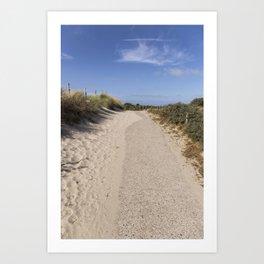 Through the Dunes Art Print