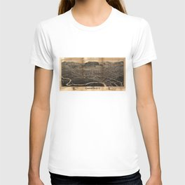 Aerial View of Oneonta, New York (1884) T-shirt