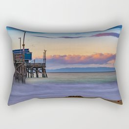 Long Exposure Dawn at Newport Pier Rectangular Pillow