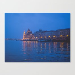 The parliament in Budapest. Canvas Print
