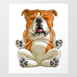 Bulldog Funny Pet Puppy Dog Lover Art Print