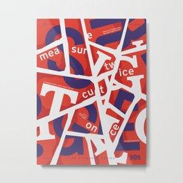 TSS 006 : Cut & Paste Metal Print