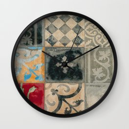 Moroccan vintage multicolor tiles by LikaRamati Wall Clock