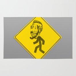 Mask man crossing Rug