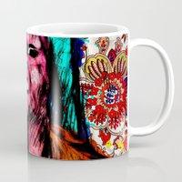 mona lisa Mugs featuring Mona Lisa by Alec Goss