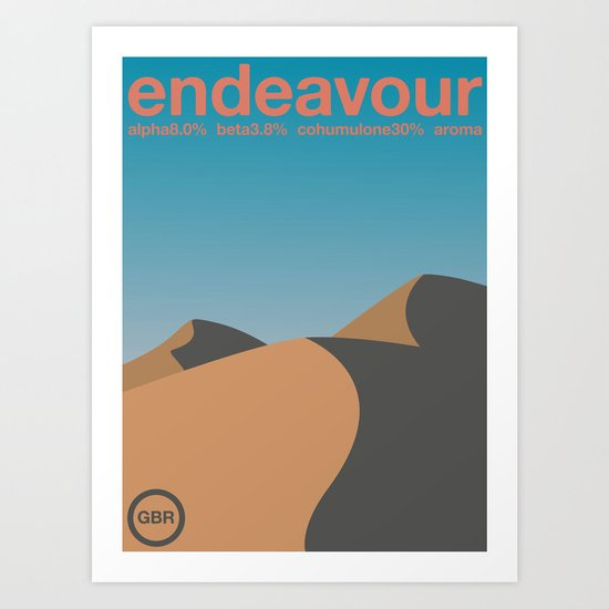 endeavour single hop Art Print