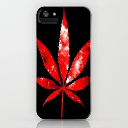 Weed : High Times red Galaxy iPhone Case