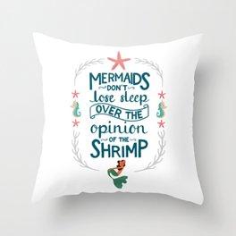 Let Mermaids Merm Throw Pillow