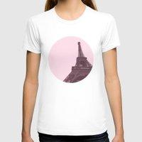 eiffel T-shirts featuring Eiffel by Michelle Wang