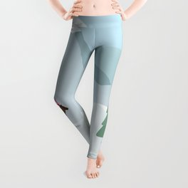 Winter in the mountains Leggings