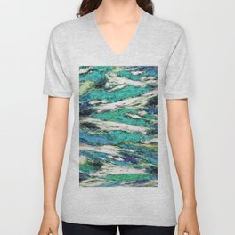 Falling through difficult layers 2 Unisex V-Neck