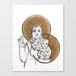 Selma & Child Canvas Print