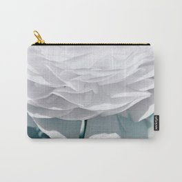 White flower 195 Carry-All Pouch