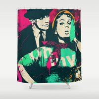 hat Shower Curtains featuring Black Hat by edwinservaas