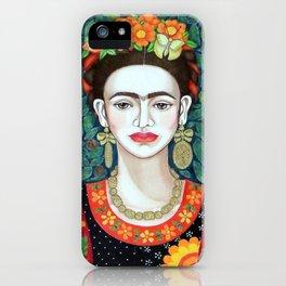 Frida, queen of hearts closer II iPhone Case