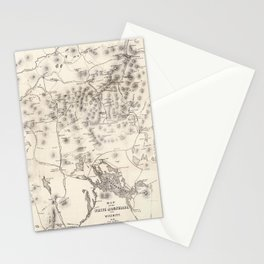 Vintage Map of The White Mountains (1872) Stationery Cards