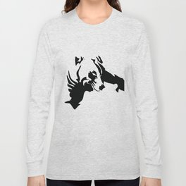 Left Eye Wolf Long Sleeve T-shirt