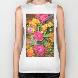 Annas Flowers V Biker Tank