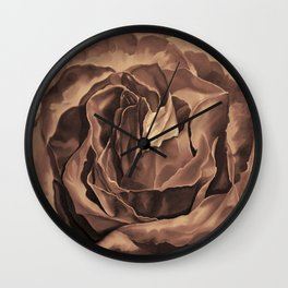 Brown Nicotine Pastel Rose Wall Clock