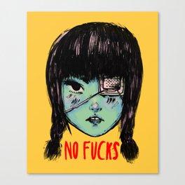 no fucks Canvas Print