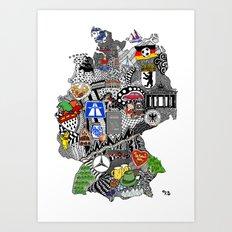 Germany Doodle Art Print