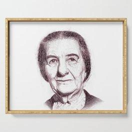 Golda Meir Serving Tray