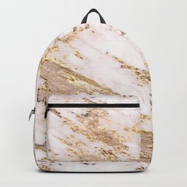 Golden smudge - blush marble Backpack