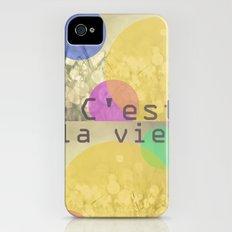 c'est la vie. iPhone (4, 4s) Slim Case