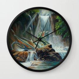 Fishing fantasy dragon Wall Clock