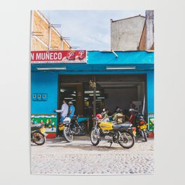 On the Street, Guatape, Colombia Poster
