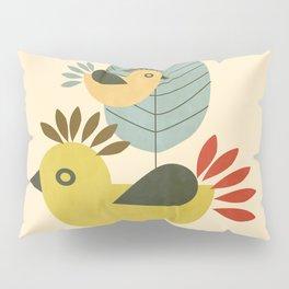 Three Birds and a Leaf Pillow Sham