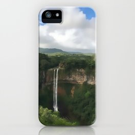 Waterfall at Black River Gorges Park iPhone Case
