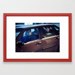 In the car  Framed Art Print