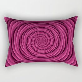 Coiled Cables in Pink Rectangular Pillow