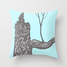 Nut Tree Illustration Throw Pillow