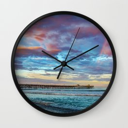 The Rainbow at the End of the Pier Wall Clock