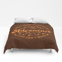 I Don't Want To Go (Brown) Comforters