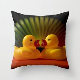 Rubber Duck Still Life II Throw Pillow
