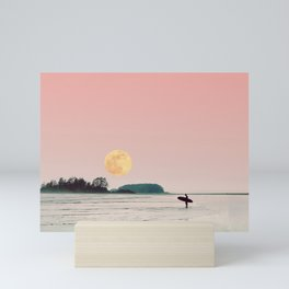 surfs up Mini Art Print