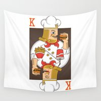 burger Wall Tapestries featuring Burger King by Steven Toang