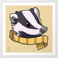 hufflepuff Art Prints featuring Hufflepuff by Clair C