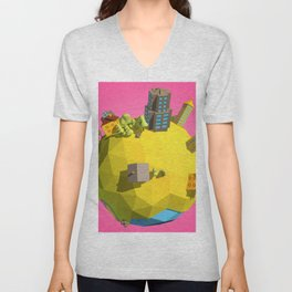 Low Poly Earth 6 Unisex V-Neck