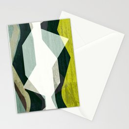 modern mid century, Graphic art, neutral colors, geometric art, circles, modern painting, abstract Stationery Cards