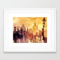 takmaj Framed Art Prints featuring Charles Bridge by takmaj
