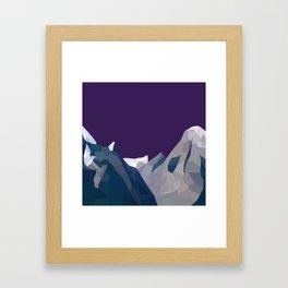 Geo Mountain Range (Part 4) Framed Art Print