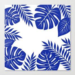 Paradise in cobalt Canvas Print