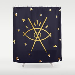 Bill Cipher Shower Curtain