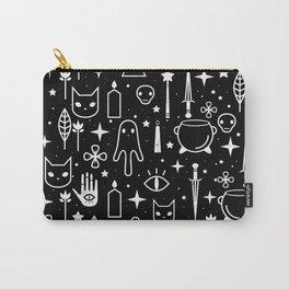 Spirit Symbols Black Carry-All Pouch